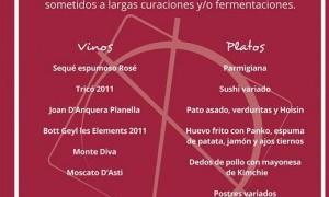 Cata de vinos con maridaje en Pepita Pulgarcita