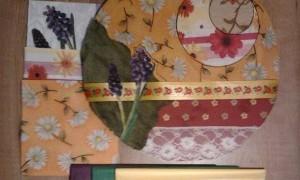 Collage de tela sobre madera en la Casa Verde