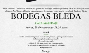 Cata Maridaje en Tiquismiquis con Bodegas Bleda