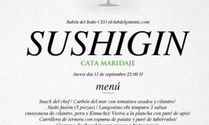 SushiGin Cata Maridaje en Tiquismiquis Gastrobar & Sushi
