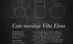 Cata maridaje Viña Elena en El Romea by Tiquismiquis