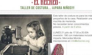 Taller de costura para niños: mochila de merienda