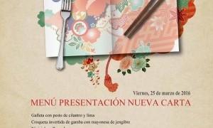 Presentación de la nueva carta de Tiquismiquis