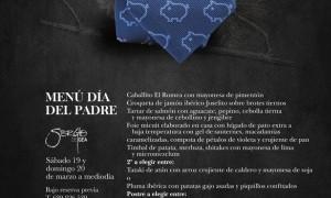 Menú día del Padre 2016 en Romea By Tiquismiquis