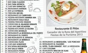 Ruta del aperitivo de las Fiestas de San José de Mazarrón