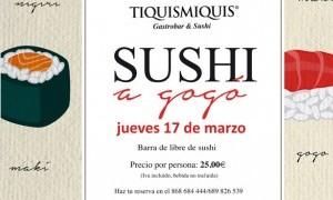 Sushi a gogó en  Tiquismiquis