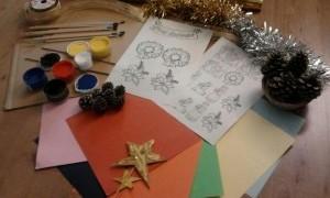 Collage de Navidad y adornos navideños
