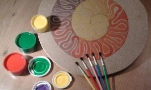 Taller espiral de colores en Bar LaMoma