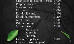 Menú Bando 2016 en El Romea by Tiquismiquis