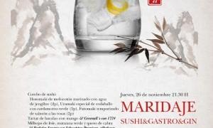Cena Maridaje Sushi&Gastro&Gin en Tiquismiquis