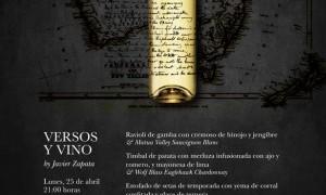 Cena maridaje en El Romea by Tiquismiquis con Versos y Vino