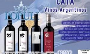 Cata de vinos Argentinos en Vox Populi Gastromercado